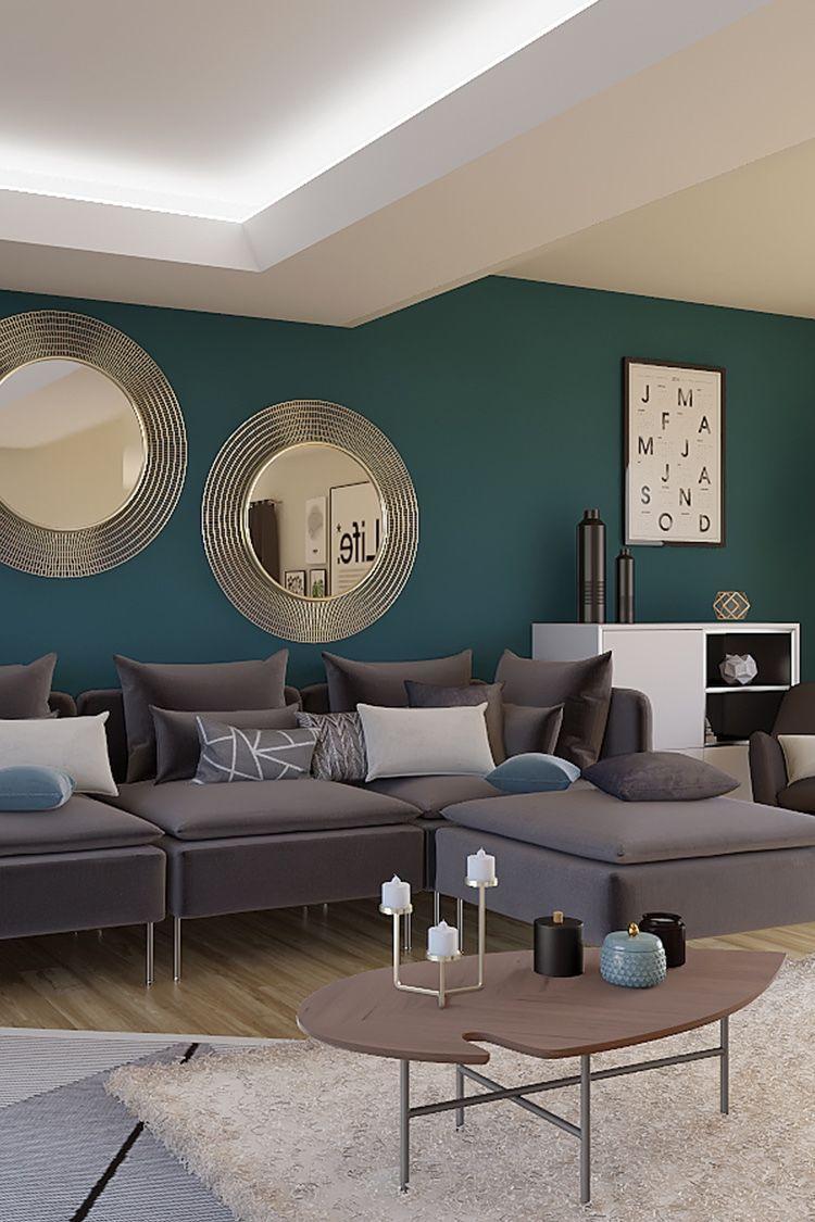 Home Design Et Deco projet 3d - salon style design #peinturesalontendance in