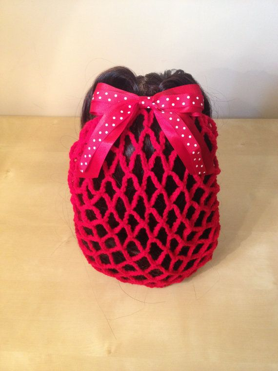 Red+retro+crochet+hair+snood+by+CherriesAndAnchors+on+Etsy,+£8.00 ...