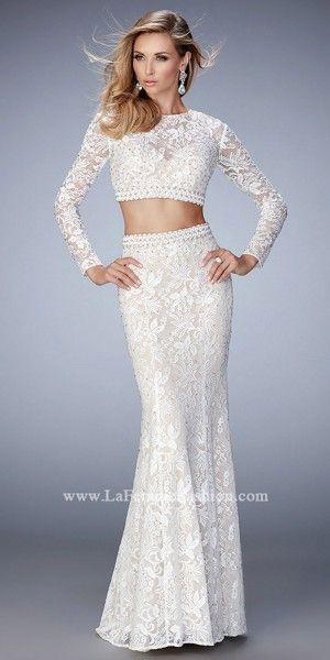 Autumn Two Piece Lace Prom Dress by La Femme | GoWns | Pinterest ...