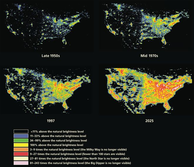 Help Make Better Map Of Global Light Pollution Light Pollution - Us at night map