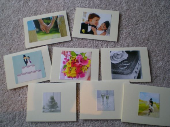 I love the idea of reusing all the cards for thank you cards diy thank you notes reuse weddingshower cards wedding cards re use reuse shower cards wedding cards stopboris Gallery