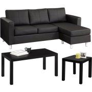 Walmart: Small Spaces Living Room Value Bundle   It Comes In A Faux Leather  Option, And I Really Like The Legs. You Can Buy The Sofa Alone, ...