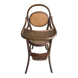 D G Fischel Sons Antique Caned Bentwood High Chair Chair