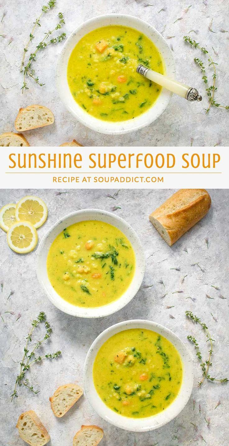 Sunshine Superfood Soup | Recipe | Superfood soup, Healthy ...