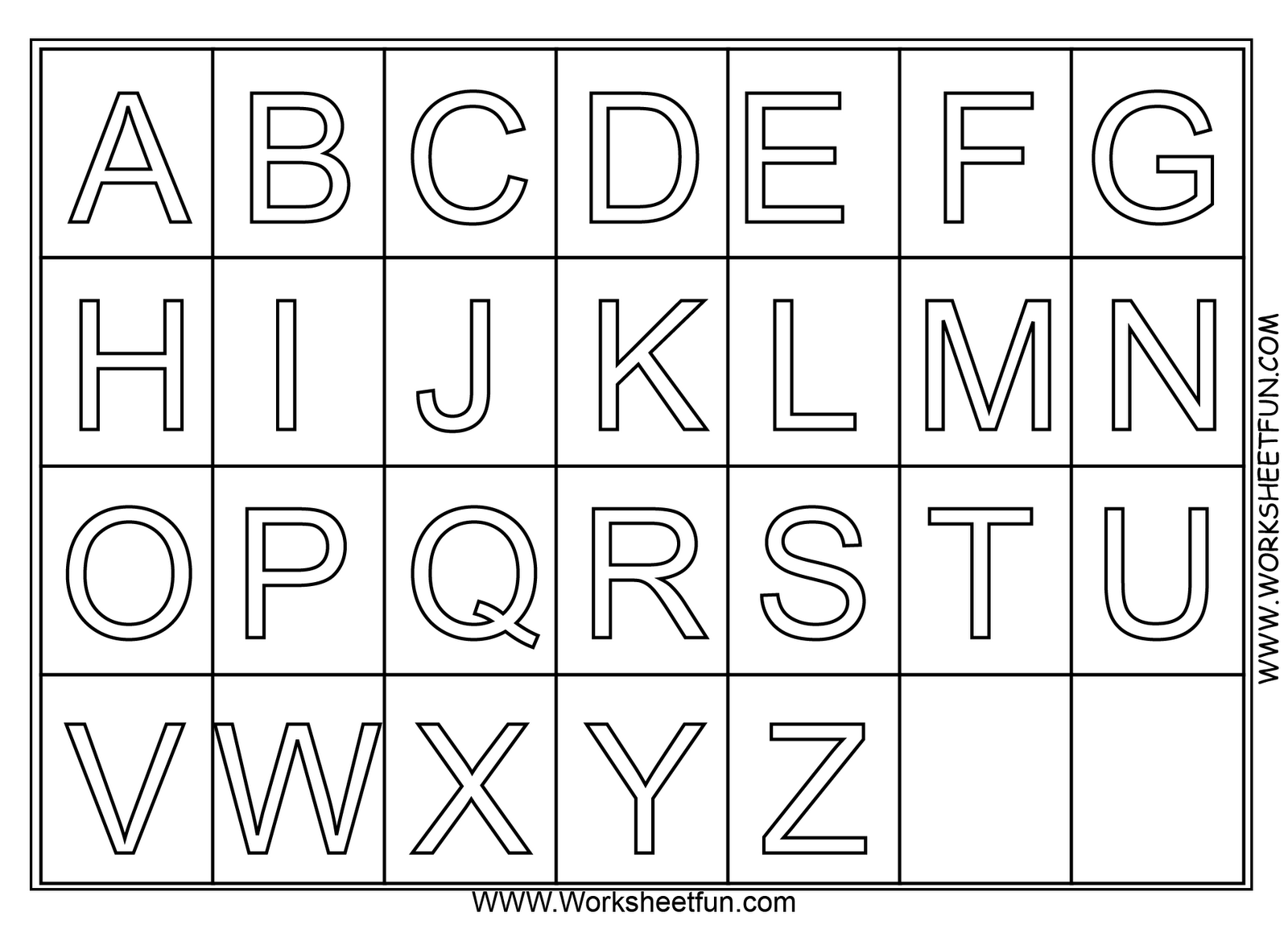 alphabet coloring pages for preschool - photo#50