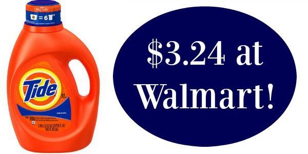 Tide Detergent Only 3 24 At Walmart Detergent Walmart