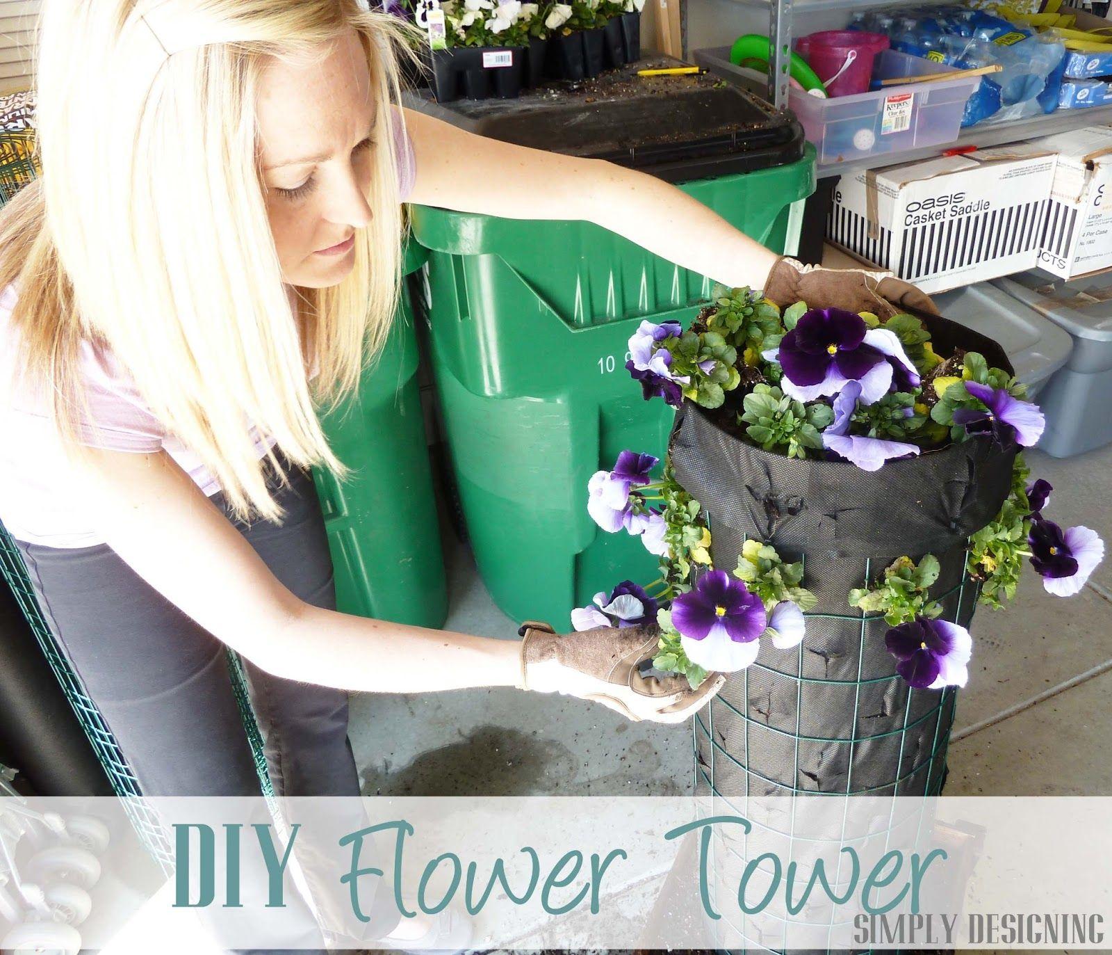 diy flower tower part 4 digin heartoutdoors spring sponsored