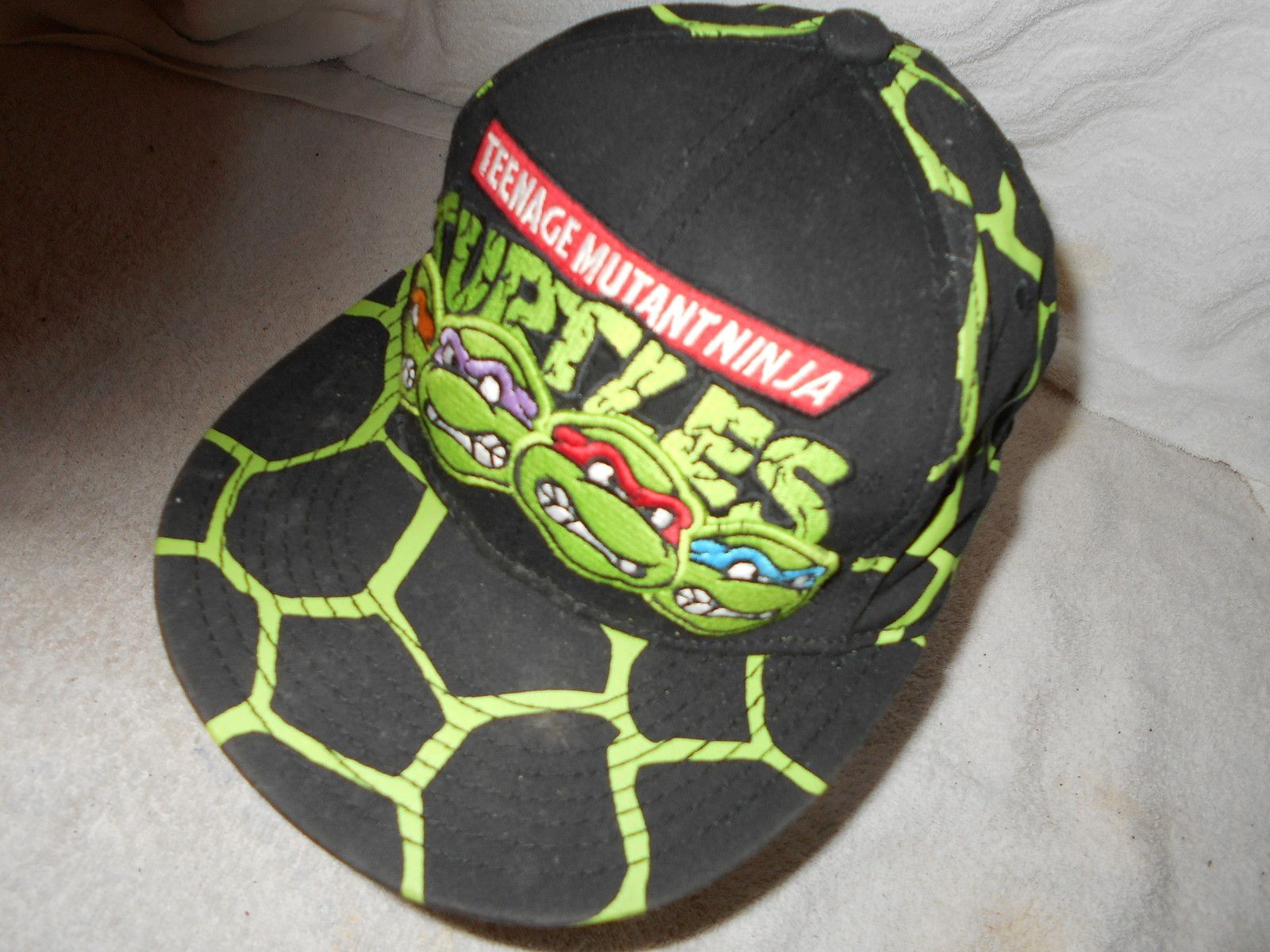 a5a6068133c teenage Mutant Ninja Turtles Vintage Snapback Hat cap Nickelodeon Flat Bill