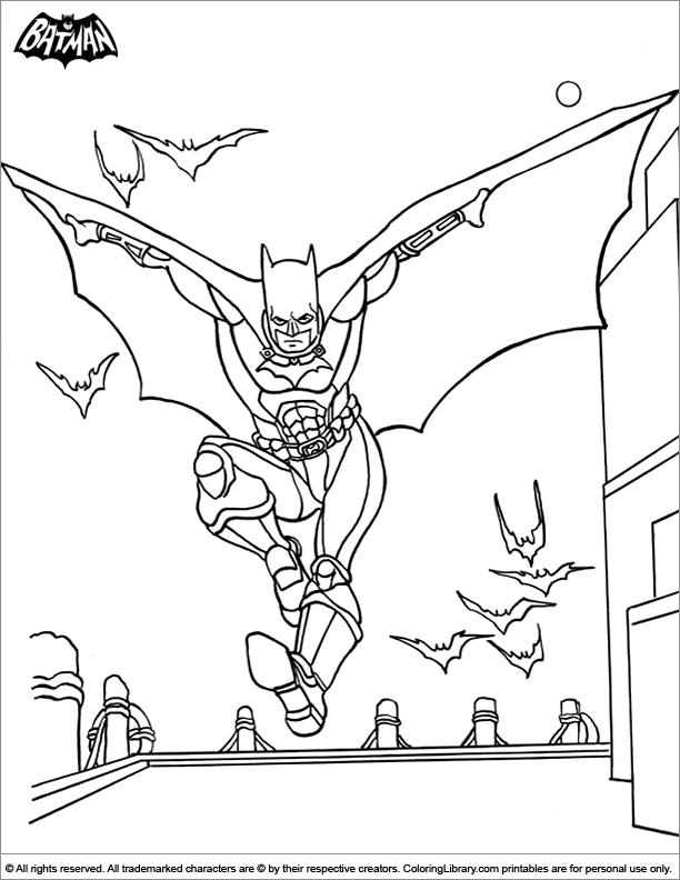 batman coloring page batman gliding to the rescue