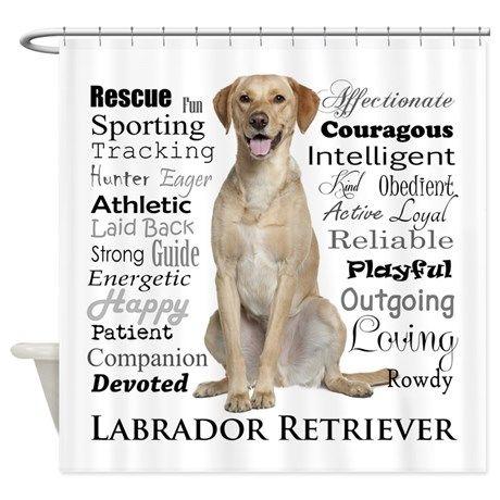 Labrador Retriever · Labrador Traits Shower Curtain ...