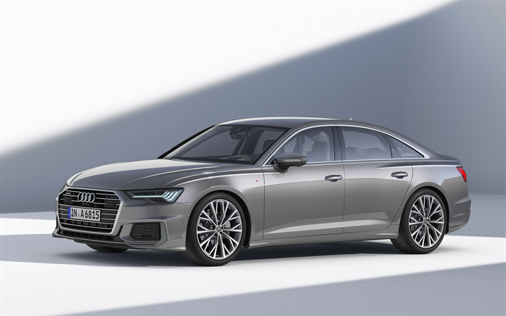 Download Wallpapers Audi A6 2019 50 Tdi Quattro S Line C8 Business Class 4k Gray Sedan New Gray A6 2019 German Cars Audi Besthqwallpapers Com In 2020 With Images Audi A6 Audi Luxury Car Brands