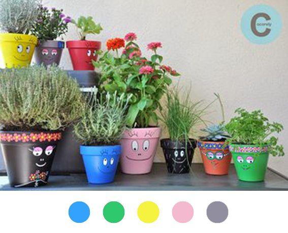 Pot de fleur diy d co d coration decoration tuto tutoriel barbapapa flowerpot - Barbe a papa personnage ...