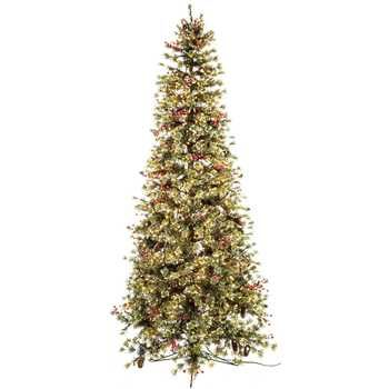 7 1/2' Fast Shape Slim Snow Pine with Lights | Hobby Lobby | 5063979 - 7 1/2' Fast Shape Slim Snow Pine With Lights Hobby Lobby 5063979