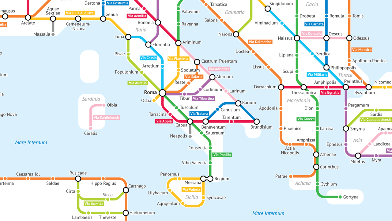 What The Roman Empire Would Look Like If It Was A Subway Map.What The Roman Empire Would Have Looked Like As A Subway Map Cool
