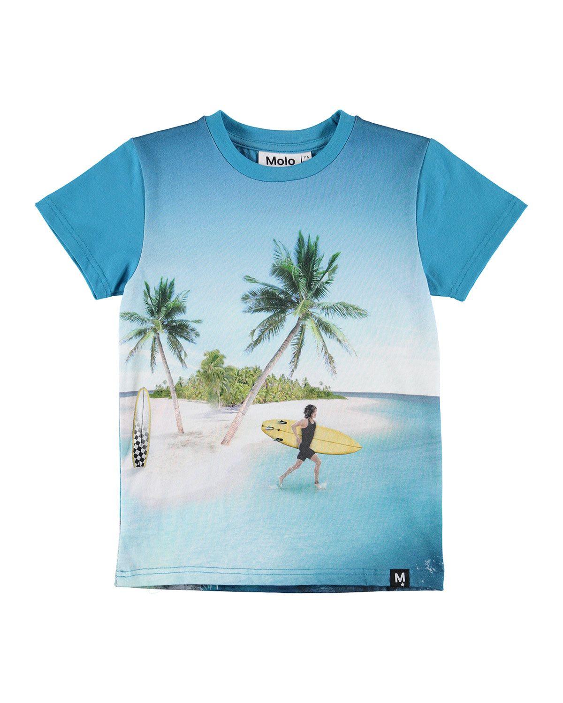 534574e78e3c8 MOLO RAVEN SURFER & SEA CREATURE PRINT SHORT-SLEEVE TEE. #molo #cloth