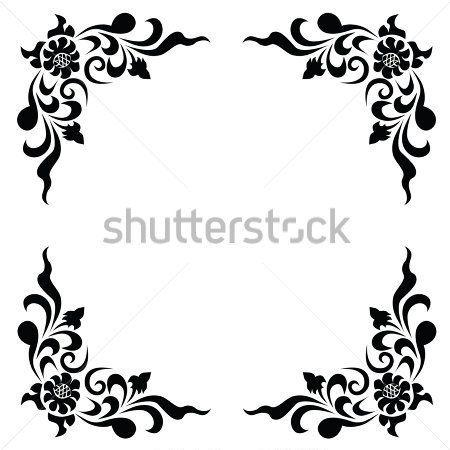 vintage border frame engraving with retro ornament patternvector design