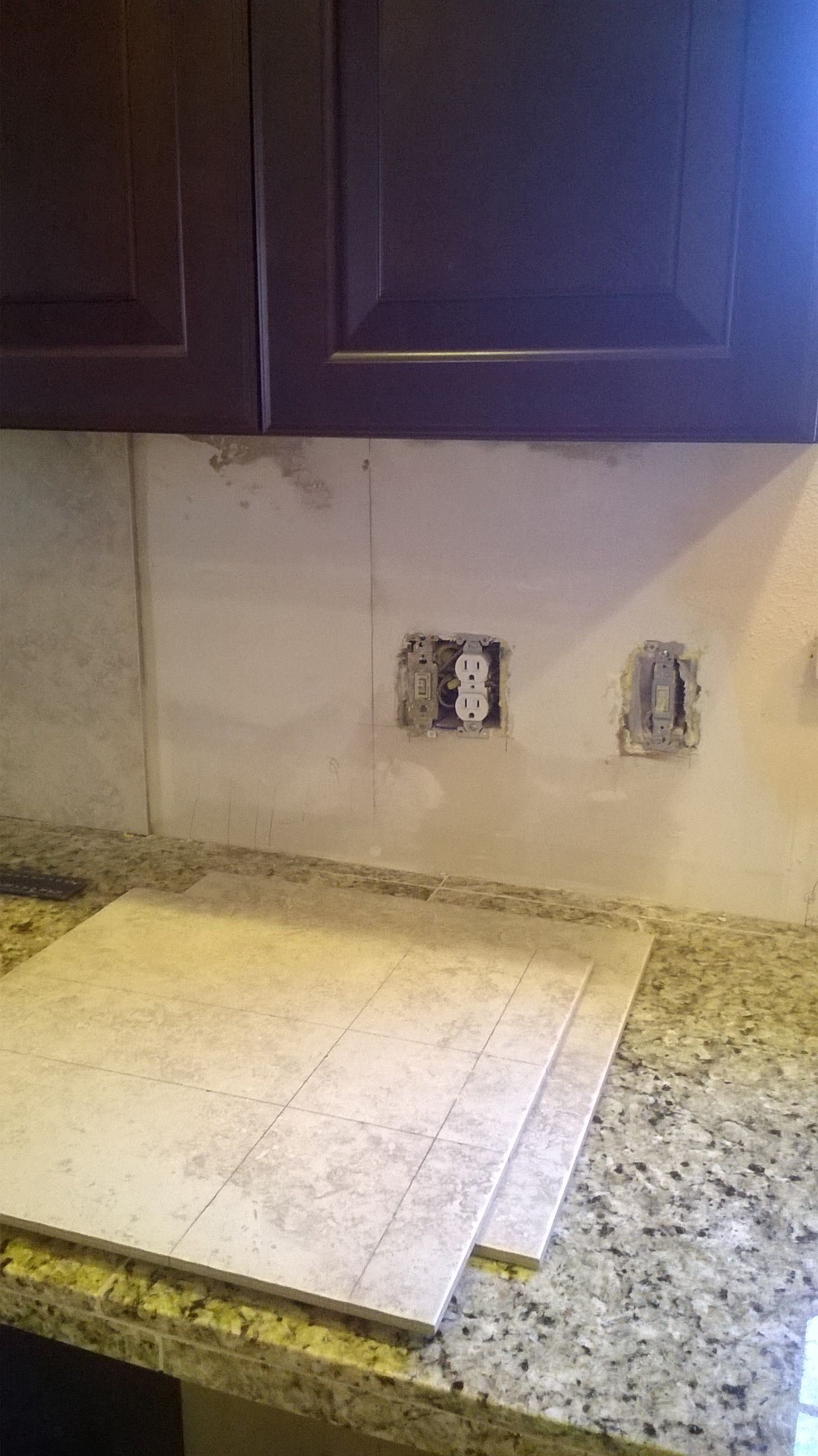Measure Distance From Sides Of Tile To Where The Electric Socket