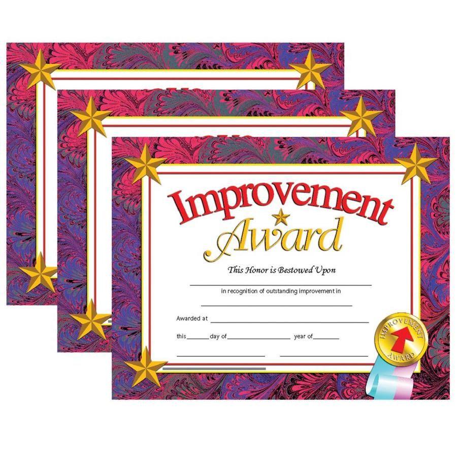 Improvement Award Certificate, 30 Per Pack, 3 Packs Hayes Improvement Award Certificate, 30 Per Pack, 3 Packs | H-VA688-3