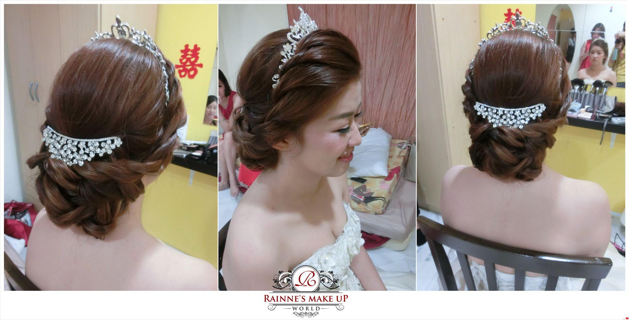 wedding, sweet princess bridal hairdo, makeup by rainne yap