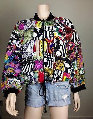 dceabe9e7 $25 Vintage Retro 80's 90's patchwork sequin colorful bomber jacket ...
