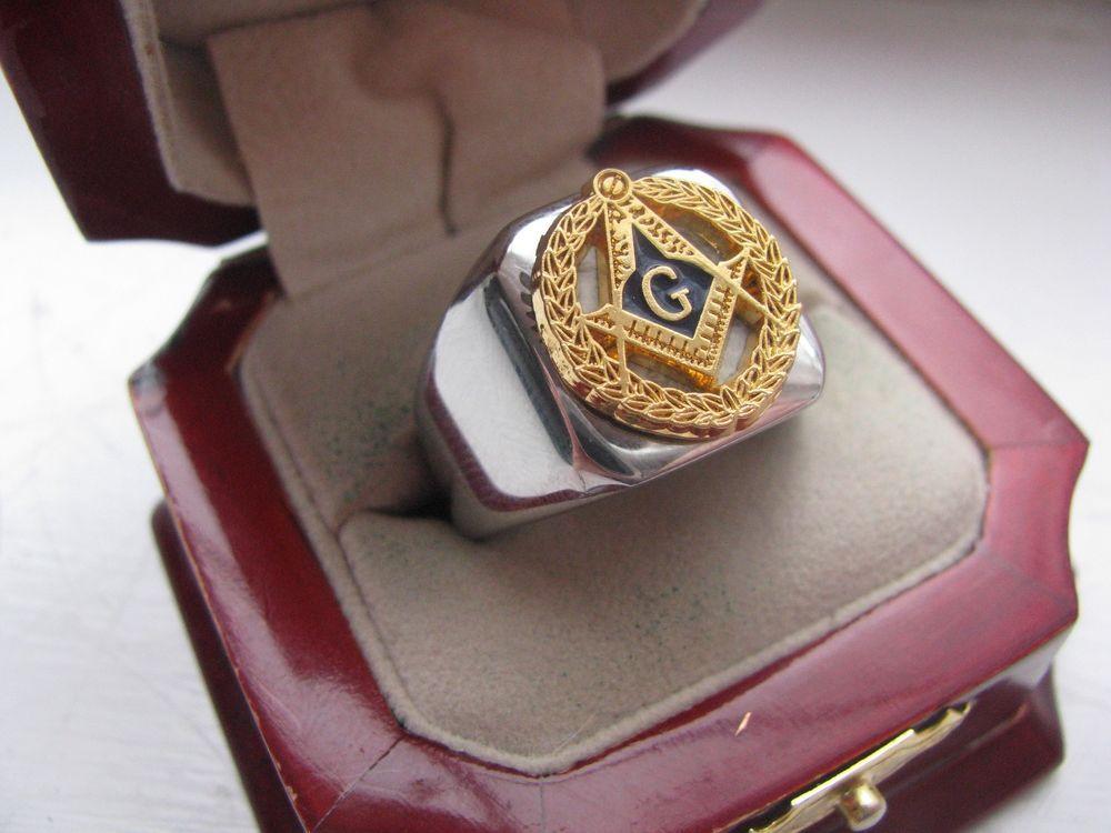 Superb NEW! Mens Masonic Masons Crest Stainless Steel