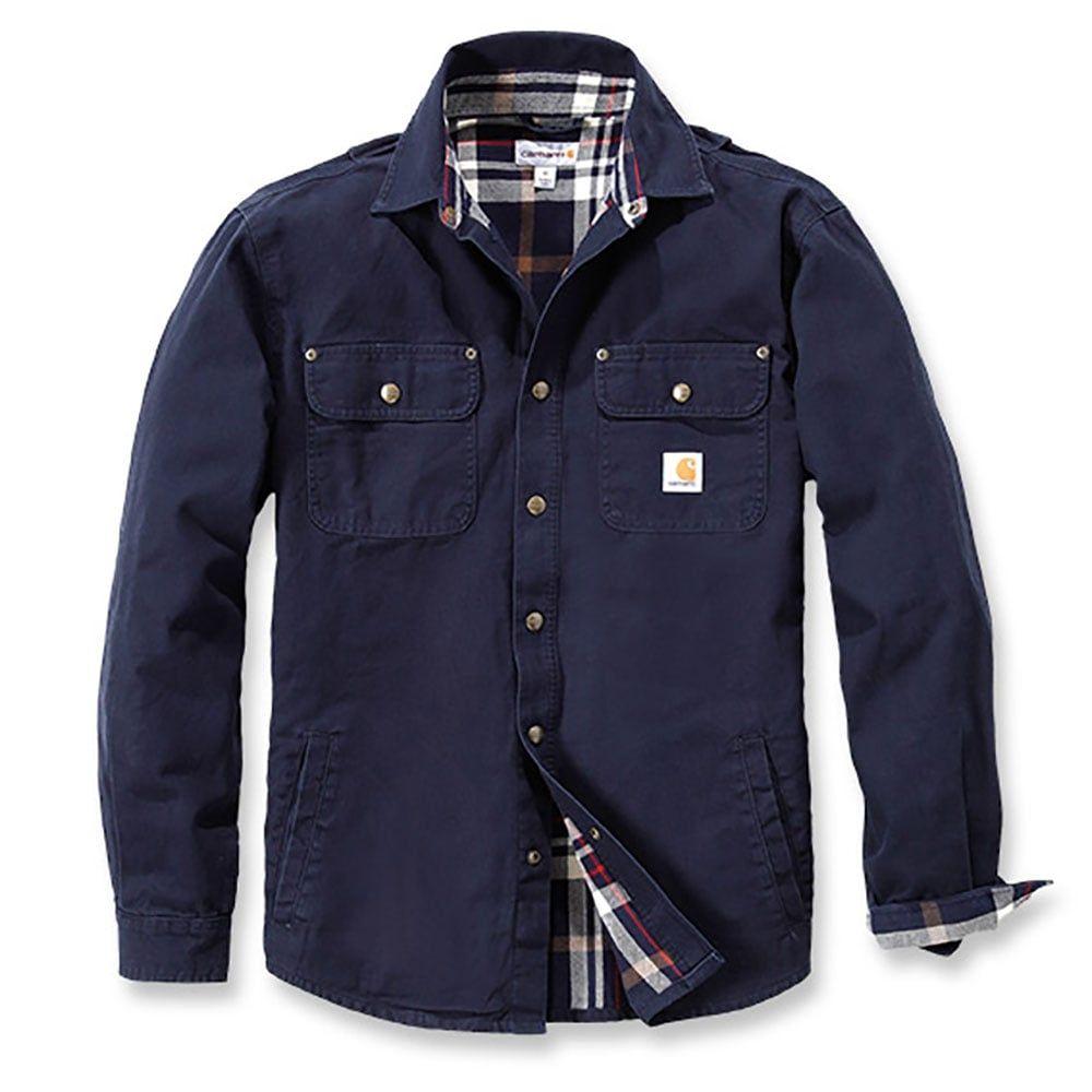 Carhartt Jacke Weathered Canvas Shirt Jacket Navy