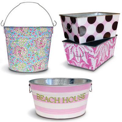 Personalized storage bins are always a good thing!