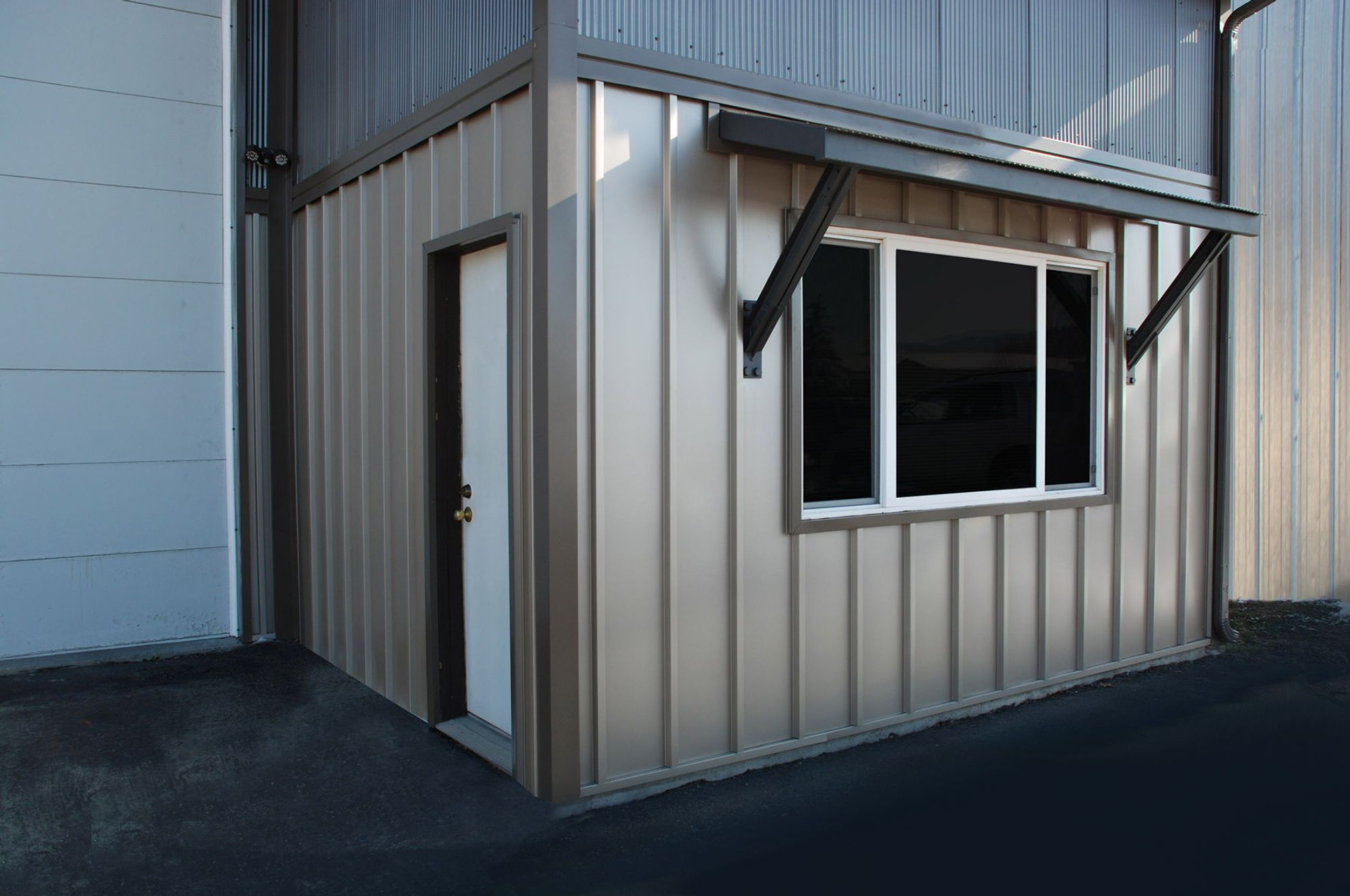 board batten metal siding with corrugated metal siding
