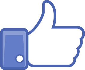 Facebook like icon vector cover