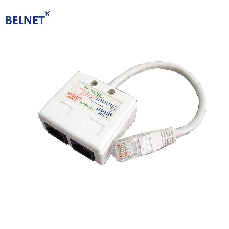 BELNET RJ45 connector network cable splitter Ethernet splitter ...