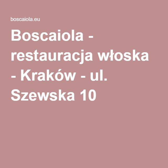 Restauracja Wloska Krakow Ul Szewska 10 Pasta Restaurants Krakow Good Pizza