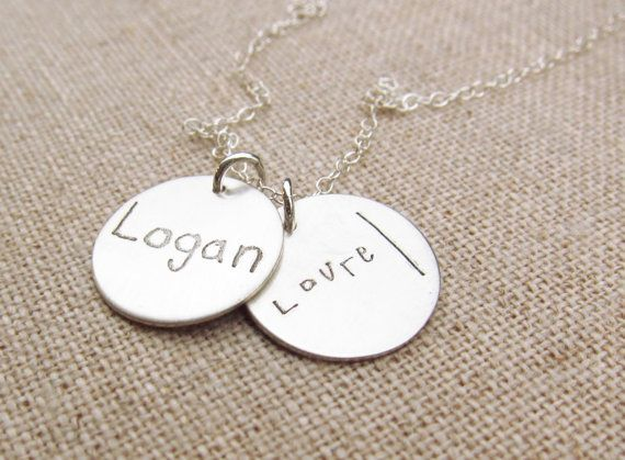 27d2dde6ce1e2 Mom Jewelry - Personalized Necklace - ACTUAL Handwriting Jewelry ...