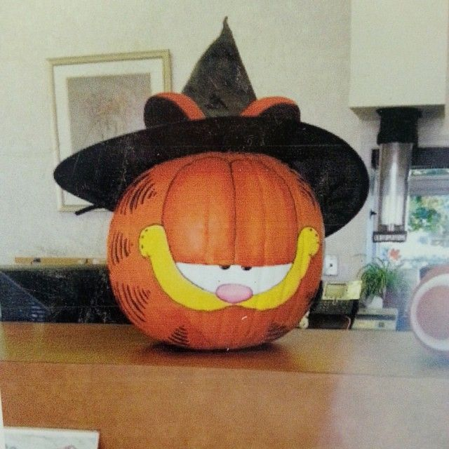 Pumpkin idea. garfield_real's photo on Instagram #paintedpumpkinideas