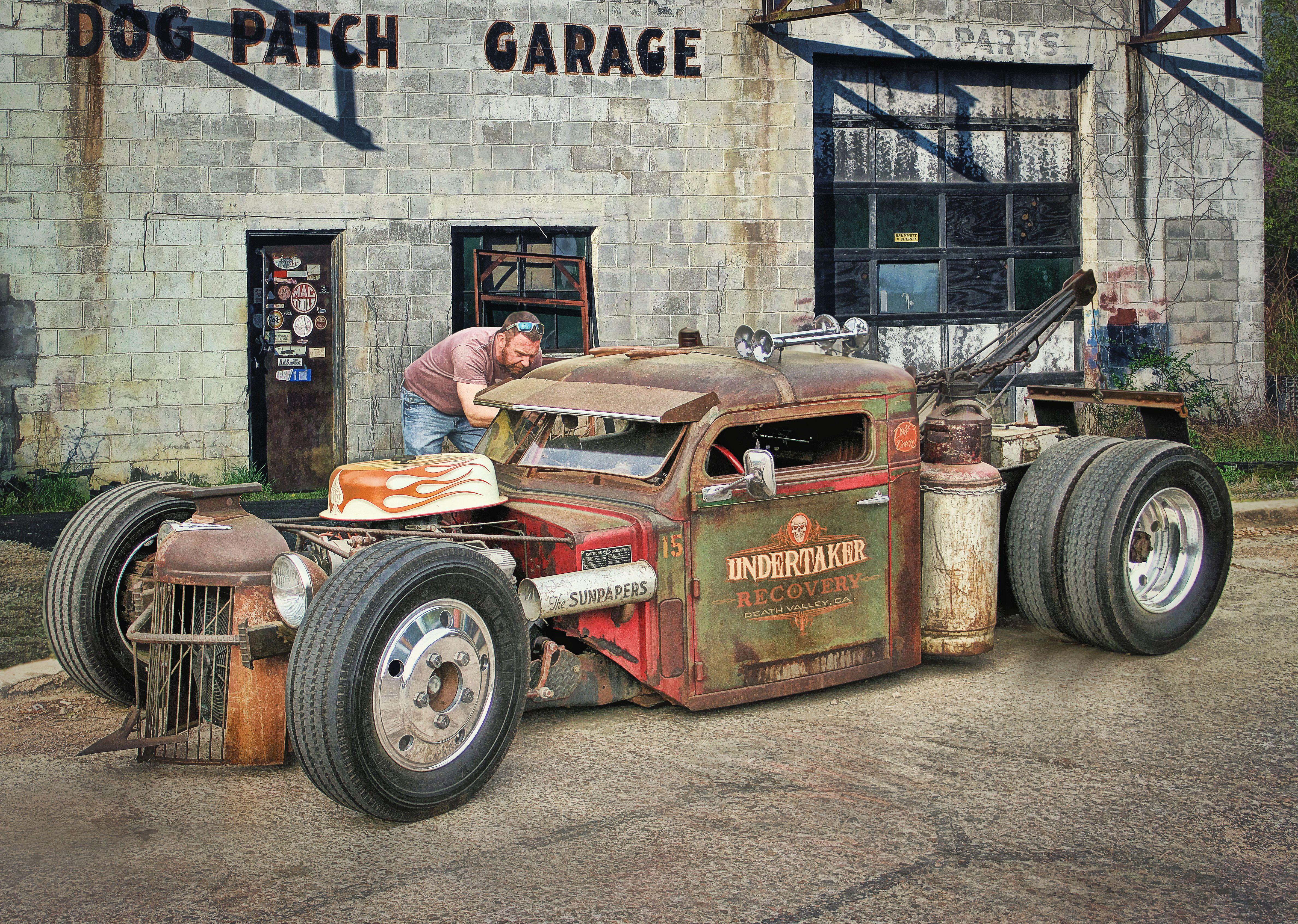Rat Rod Tow Truck Hot Rod Art by Rat Rod Studios