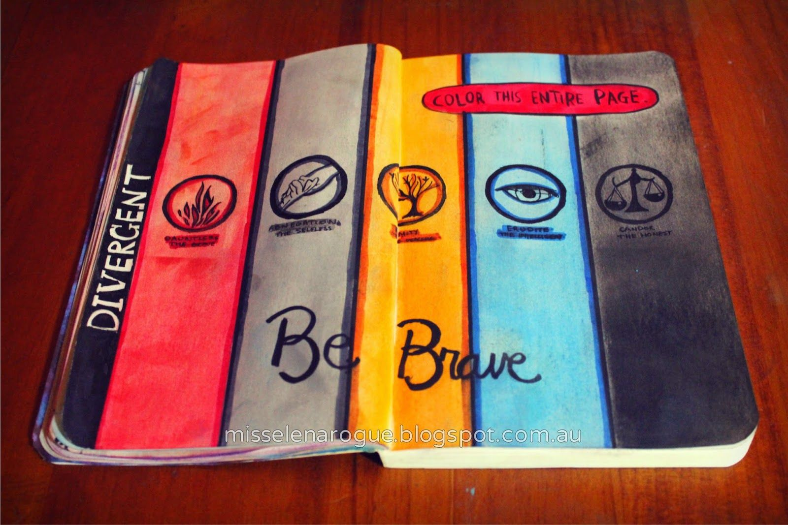 Color This Entire Page Wreck This Journal Ideas Divergent Art