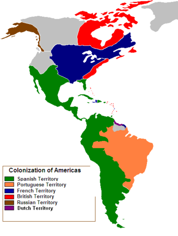 Colonial South America Map.Map Showing Which European Countries Colonized Each Part Of The