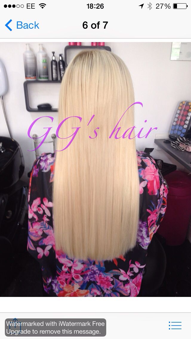 Half Head Of Beauty Works Hair Extensions Fitted In Our Plymouth