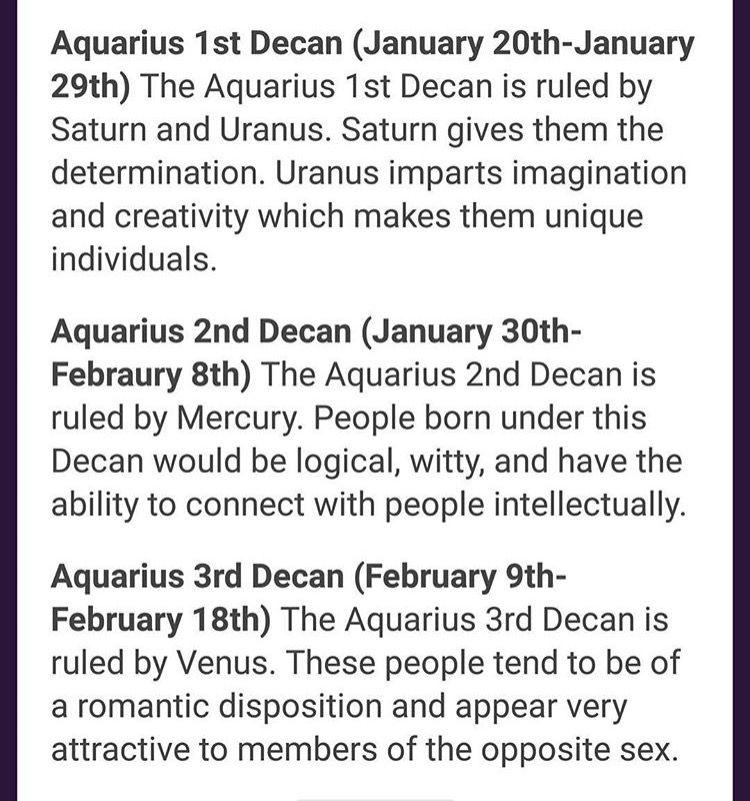 first decan aquarius horoscope