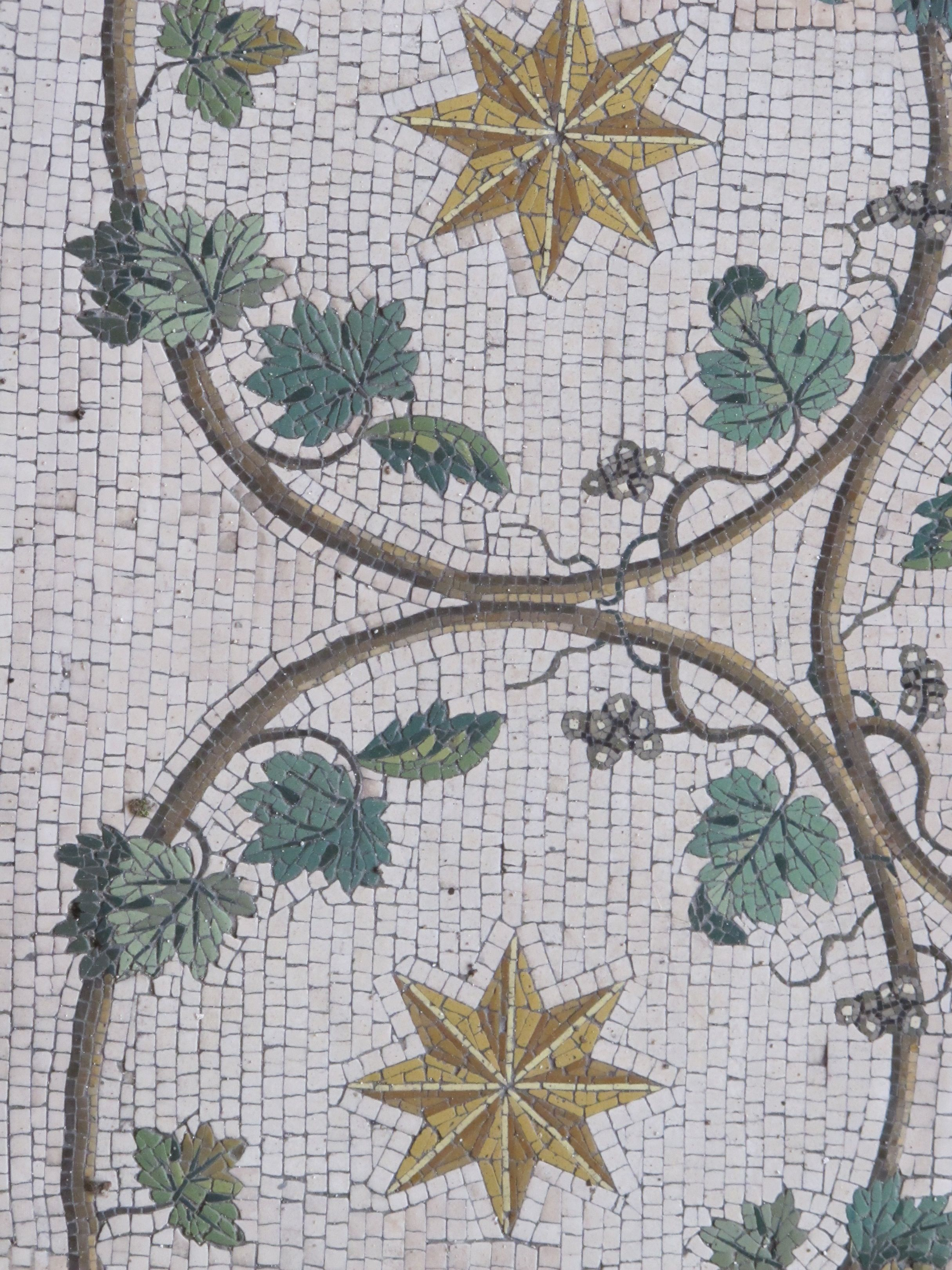 Beautiful mosaic, originally from Hadrian's Villa, now in the Cabinet of the Masks in the Vatican Museums.