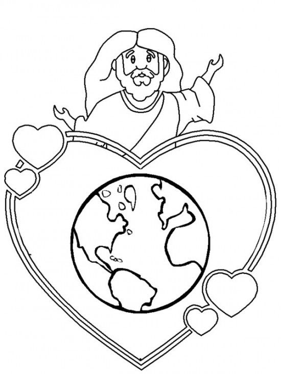 coloring pages for kids only | God So Loved The World That He Gave His One And Only Son ...