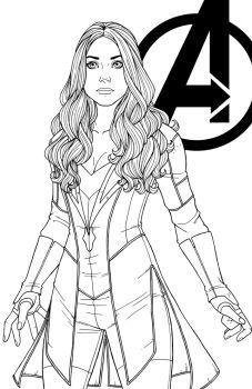 Wanda Maximoff By Jamiefayx Marvel Coloring Superhero Coloring Pages Superhero Coloring