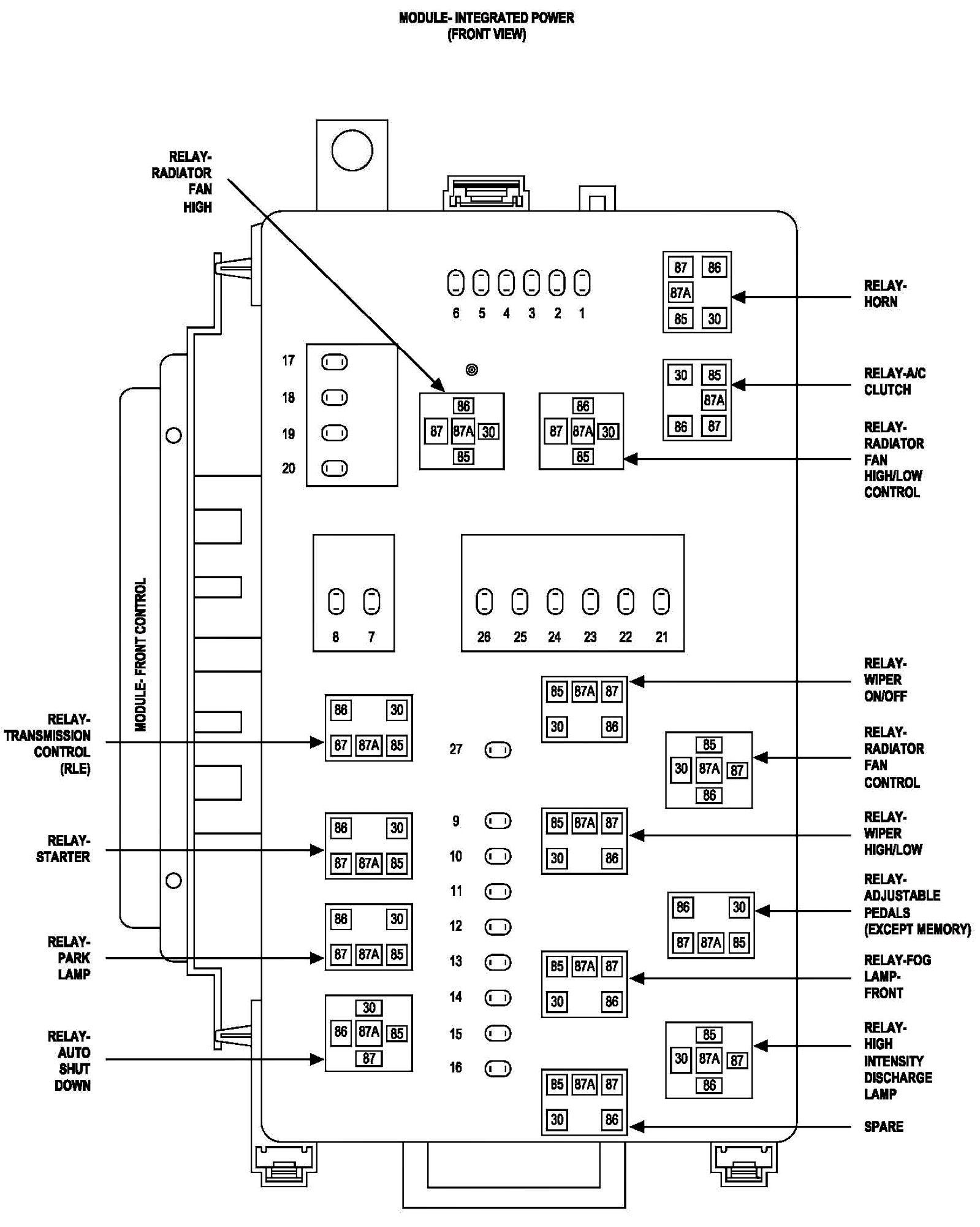 graphic Chrysler 300, Diagram, Radiator fan