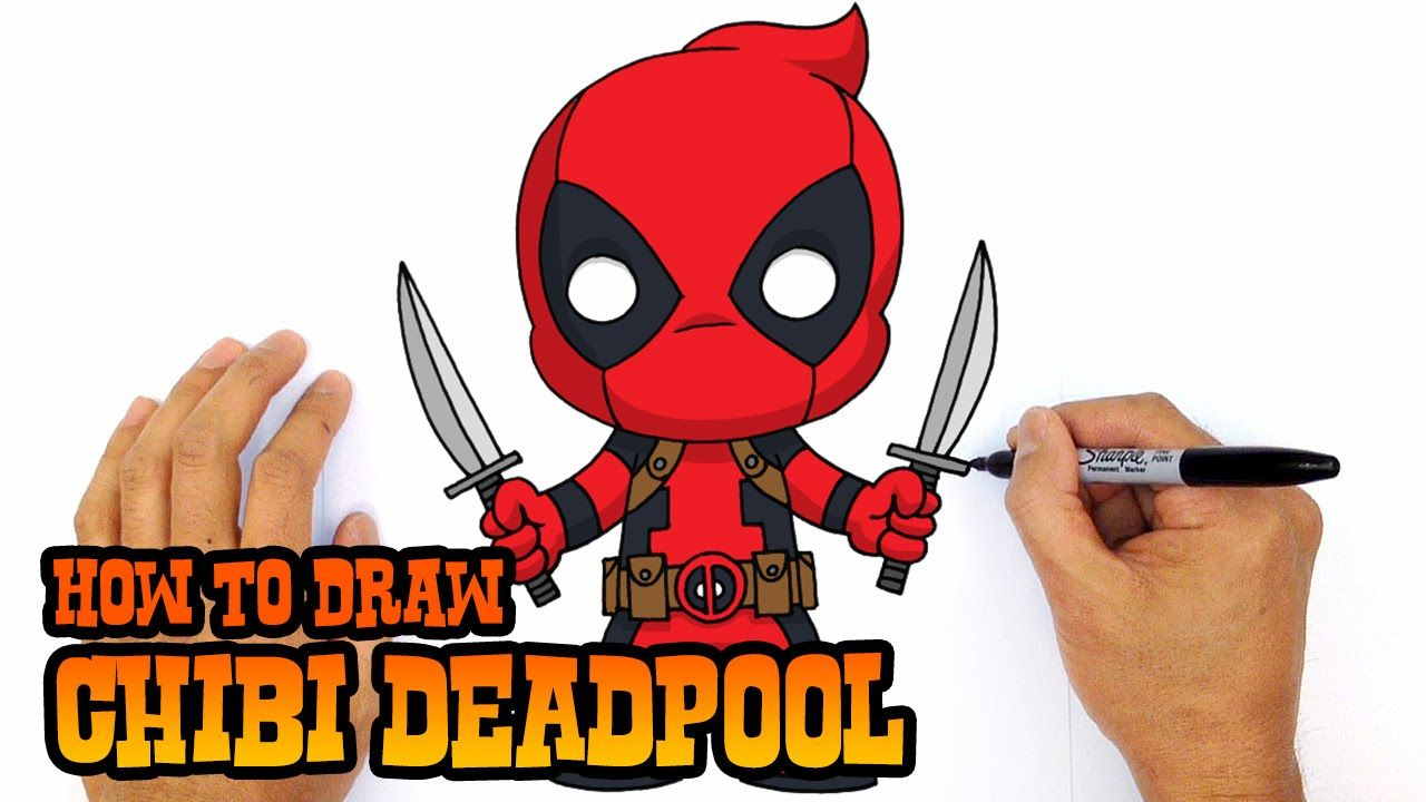 Learn How To Draw Chibi Deadpool With Our Step By