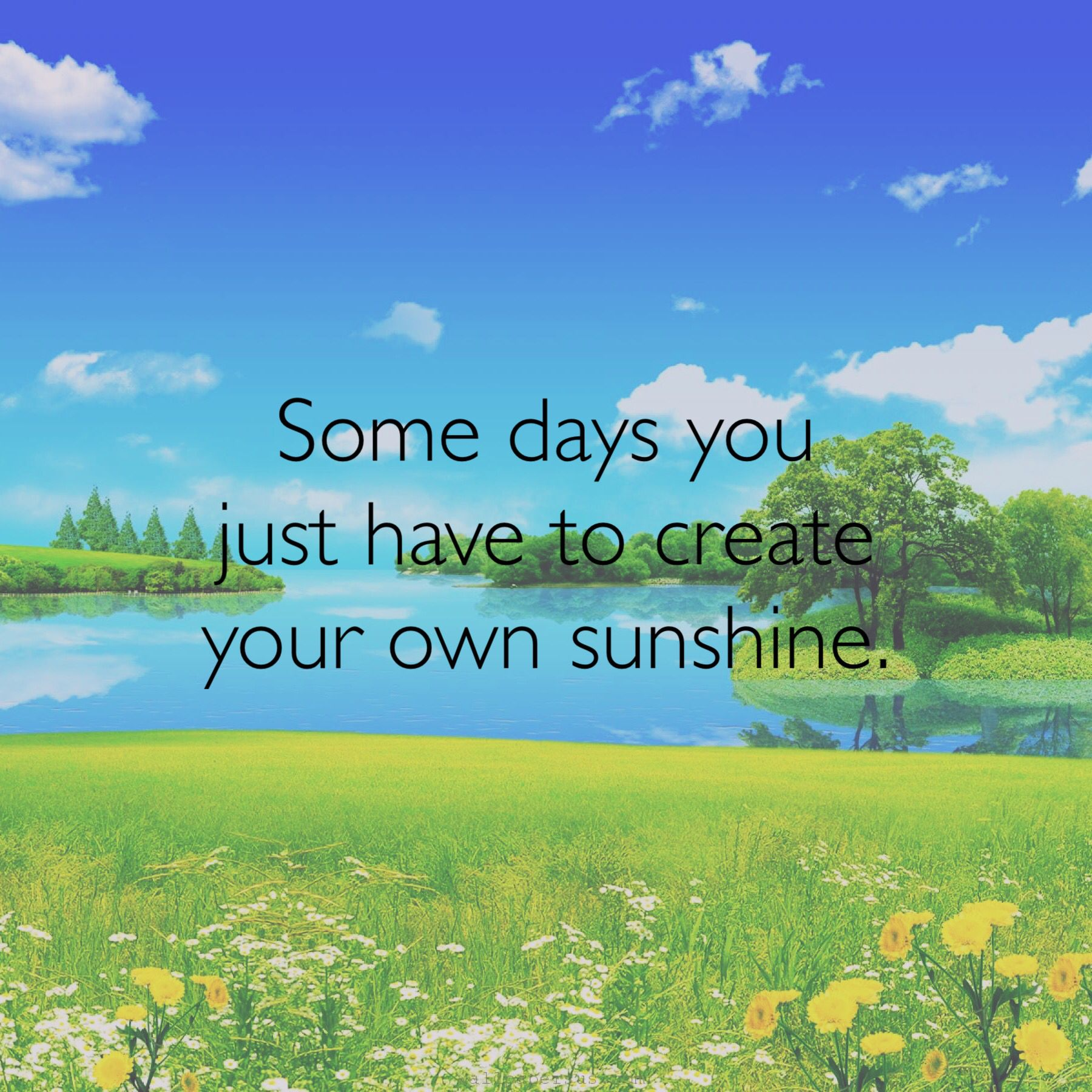 Create Your Own Quote Some Days You Just Have To Create Your Own Sunshinequote