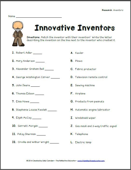At the conclusion of our short research project about inventors - research plan