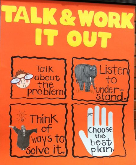 www.projectcornerstone.org  Talk and Work it Out poster for the classroom.