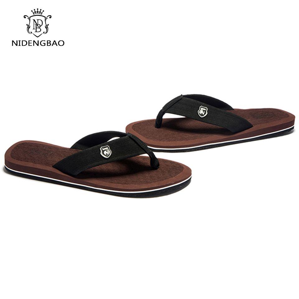 811a7f31660c7 NEEDBO Beach Flip Flops Men Slippers Shoes Comfortable Men s Sandals Casual  Summer Hotsal Shoes Good Quality
