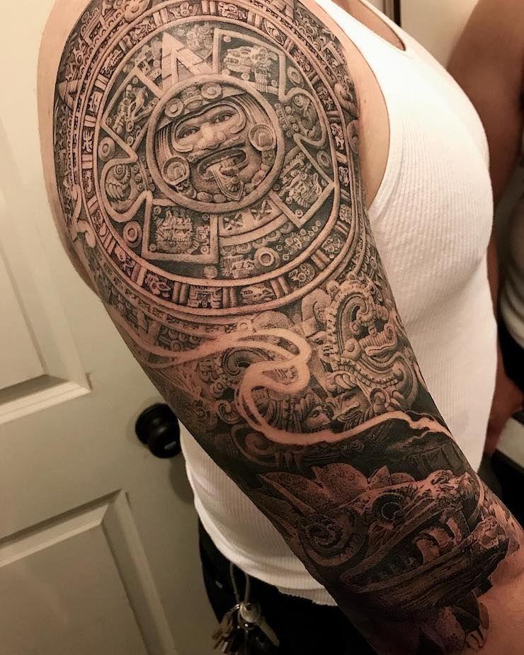 50 Of The Best Aztec Tattoos Tattoo Aztec Tattoo Designs
