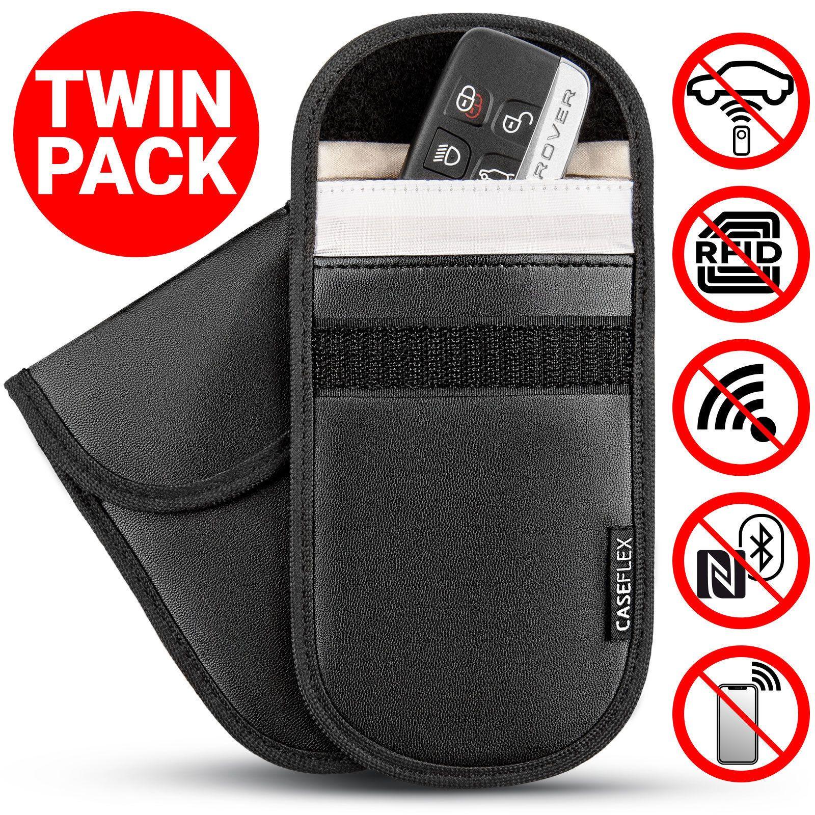 2 x car key signal blocker case faraday cage fob pouch