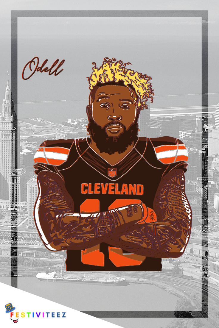 Odell Beckham Cleveland Browns Cleveland Browns History Nfl Football Art Odell Beckham Jr